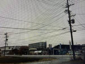 今日は箕輪町に雪が降りました